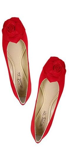rosy red flats - kinda cute, i have to admit