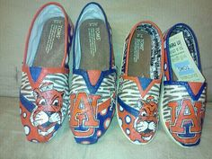 Auburn Tigers hand painted TOMS by MyHeartToYourSole on Etsy, $105.00