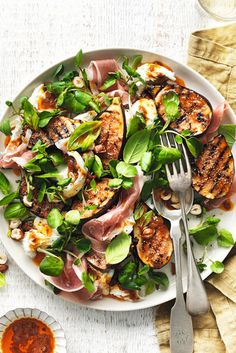 WHAT TO EAT TONIGHT - Warm Turkish fig salad: This salad is all about throwing it together on a serving platter with a side of crusty bread and letting everyone dig in