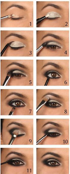 This eyeshadow look is gorgeous! We could do it with Maskcara Sabrina and Cole eyeshadow shades!