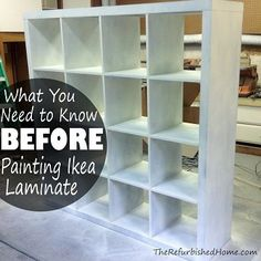 DIY:  How to Prep and Paint Laminate - this is an excellent post with lots of info - via The Refurbished Home