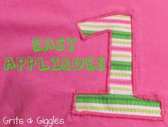 Grits & Giggles: Easy Applique Tutorial