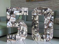 DIY 50 ANNI Marco Realizzato con cartone e bicchieri di plastica