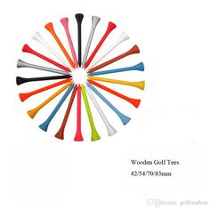 2017 Hot Selling Colorful Wooden Golf Tees With Full Size 42/54/70/83mm Golf Tee For Golf Practice B7 From Golftraders, $0.05   Dhgate.Com