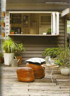concertina windows link kitchen to outdoor deck