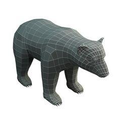 Low Poly Base Mesh Bear