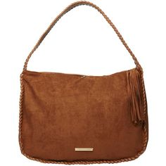 Dorothy Perkins Tan Whipstitch Hobo Bag (485 ZAR) ❤ liked on Polyvore featuring bags, handbags, shoulder bags, brown, tan shoulder bag, brown hobo purse, tan handbags, brown hobo handbags and dorothy perkins