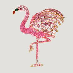 Large Crystal Flamingo Brooch from Butler & Wilson. Available in clear or pink. Flamingo Craft, Flamingo Gifts, Flamingo Decor, Pink Flamingos, Flamingo Party, Butler & Wilson, Museum Of Childhood, Bee On Flower, Bird Jewelry