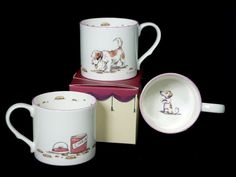 NNM14 COOKIES - Bone China Mug decorated by Anita Jeram for Two Bad Mice Cards and Ceramics - price £12.50 (Gift Boxed)