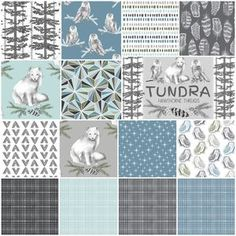 Hawthorne Threads - Tundra Fat Quarter Bundle in Winter Freeze