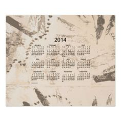 Old Brown Paint 2014 Wall Calendar Poster Design from Calendars by Janz