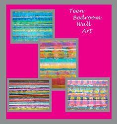 Teen Girl Bedroom Art Decor Teenagers Sophisticated Abstract