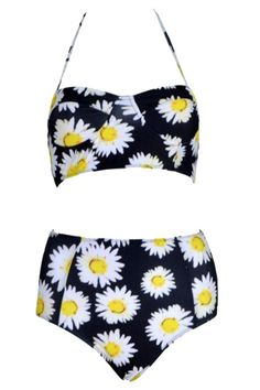 Longline Bikini In Wild Daisy