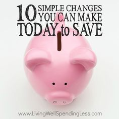 Think saving money has to be painful? Think again! Small but purposeful changes in your daily life can have a surprisingly big impact on your budget over time. If you are ready to start, don't miss these 10 simple changes you can make TODAY to save big!