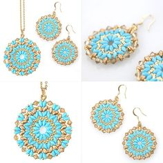 DIY Mandala necklace and earrings set tutorial – I-Beads Blog