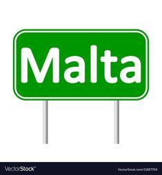 Malta road sign vector image