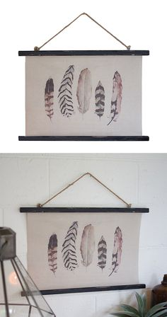 Feathers are an anomaly: they're light and soft to the touch, yet strong and dexterous. Just like a feather, this canvas banner is gentle to the eye, but impressive in any setting.  Find the Aviary Canvas Banner, as seen in the #TheUrbanNomad Collection at http://dotandbo.com/collections/theurbannomad?utm_source=pinterest&utm_medium=organic&db_sku=113207