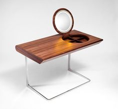 compact dressing tables with lamp