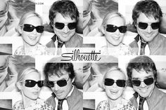 Gossip Girl on-screen couple Matthew Settle and Kelly Rutherford cozy up in the Silhouette Photo Booth