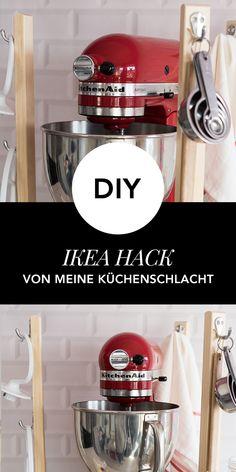 IKEA Hack: So funktioniert Ihr einen IKEA Hocker zu einem Küchenelement um. Perfekt für die Kitchen Aid