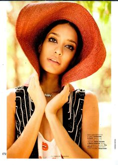 Featured in ELLE India!  The super chic #LisaHaydon welcomes #summer in a straw hat by ‪#‎PIAPauro‬ :)  Find all the essentials for your next #beach vacay at: piapauro.com