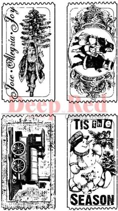 $5.62 + $2.49 shipping Deep Red Stamps - Tis the Season Tickets Rubber Stamps