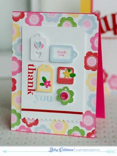 Mini Tags Handmade Thank You Card by ShopPaperScissors on Etsy, $6.50