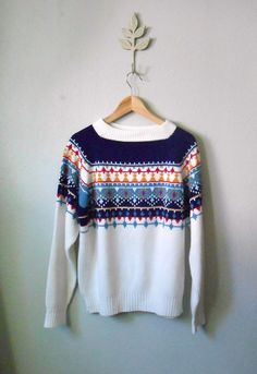 vintage 70s ski lodge nordic sweater / mens by ThePerennialPast, $21.00