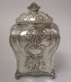 Tea:  Silver #tea caddy.