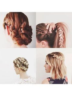 Screenshot Worthy Instagram Hair: Start scrolling through #hairideas posts and you'll see more looks than there are hairs on your head (1,234,500—and counting). The problem is finding inspo that actually inspires. Here, the braided updos, Lisa Frank-bright streaks, and rumpled waves that earned our likes. | allure.com