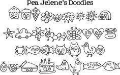 FREE Pea Jelene's Doodles #Font #DIY #Fonts