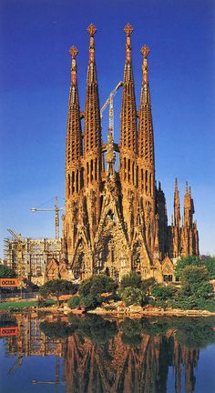 Sagrada Familia in Barcelona.  Proof it can still take a century to build a cathedral.  Construction began in 1882, and hopes are it will be completed in 2026.