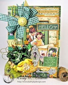 Hello Spring card for Frilly Funkie Layer it Up Challenge 01
