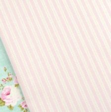 Tilda Country escape, pale pink kitchen stripe fabric / quilting ticking