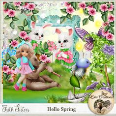 Hello Spring Hello Spring, Paint Shop, Photoshop Elements, My Memory, Photo Book, Tinkerbell, Digital Scrapbooking, Design Elements, Seasons