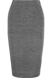 Victoria Beckham Paneled jacquard and silk-blend pencil skirt