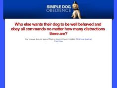 Simple Dog Obedience