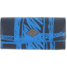 Vivienne Westwood Anglomania Wallet ($87) ❤ liked on Polyvore featuring bags, wallets, blue, card slot wallet, credit card holder wallet, vivienne westwood anglomania, blue wallet and logo bags