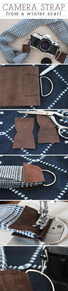 A trendy way to have fun in the snow and still be able to take amazing photos! This DIY winter scarf camera strap is so easy to make and is perfect for the holidays. http://www.ehow.com/ehow-crafts/blog/diy-winter-scarf-camera-strap/?utm_source=pinterest&utm_medium=fanpage&utm_content=blog