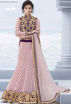 Pink Net Designer Lehenga..@ fashionsbyindia.com #designs #indian #womens #style…