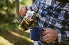 When you go to the woods, bring some decent coffee...you'll have plenty of time to enjoy it!