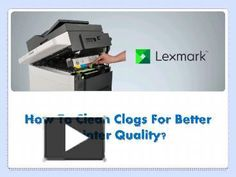 Not getting the better print quality from your Lexmark printer? Found clogged ink cartridges? Unable to remove or clean it? Don't worry! Go through the process of cleaning the clogged cartridges mentioned in this presentation.