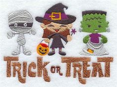 Trick or Treat Kids Embroidered Flour Sack / Hand / Bath Towel  / Apron by misty1718 on Etsy