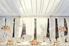 French Inspired wedding decor and white tent at the Emma Estate   Estate Weddings and Events