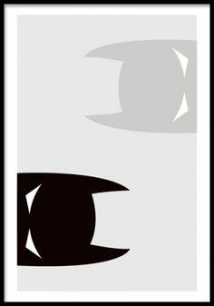 Batman reverse, plakat. Posters og plakater. www.desenio.dk