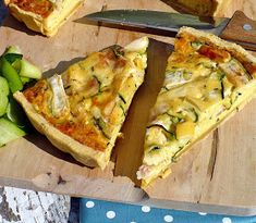 Quiche, Vegetable Pizza, Zucchini, Food And Drink, Pie, Vegetarian, Vegan, Vegetables, Breakfast