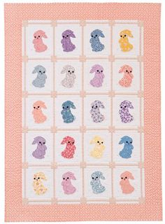 Adorable bunnies made up in reproduction fabrics: Bunny Hop quilt by Nancy Mahoney.