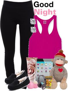 """Good night..."" by mindlesscupkake421 ❤ liked on Polyvore"