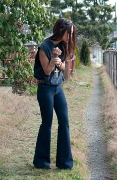 "Only $60! J Brand Womens Dark Wash ""The Doll"" High Rise Bell Bottom Flare Leg Jeans sz 27 #shopmodo #modoboutique"