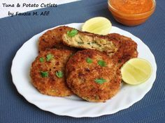 These are a quick fix kind of kabab/cutlet which tastes amazing on it's own or in a wrap.  A perfect starter  to any meal, can be served with ketchup or any spicy dip/chutney.  For a chicken version, check out my chicken potato cutlets recipe HERE.